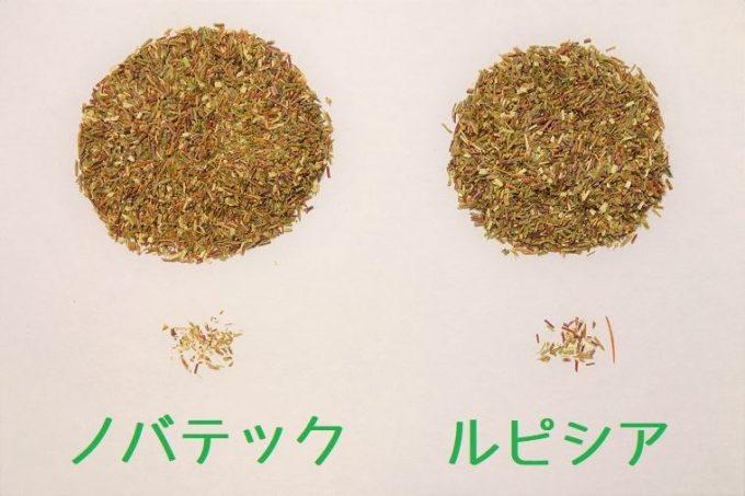 ルピシアとノバテックの茶葉を比較